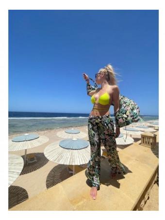 """Плажен панталон 1527 """"Зелена тропическа гора"""""""