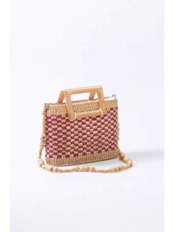 Дамска чанта CABANNI POSITANO RED/NATURAL BAG