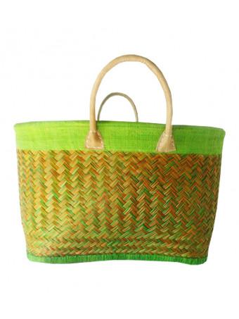 Плажна плетена чанта LE COMPTOIR DE LA PLAGE ANTALY Vert Anis Basket
