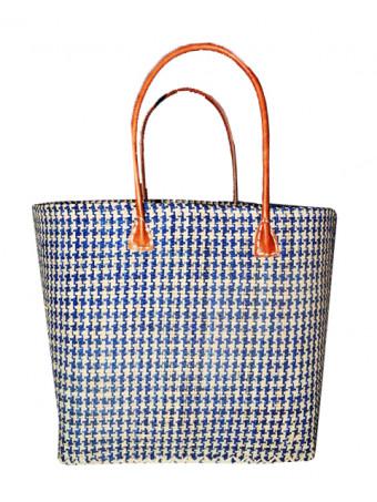 Плажна плетена чанта LE COMPTOIR DE LA PLAGE IKOPA GM BLEU MARINE PAN