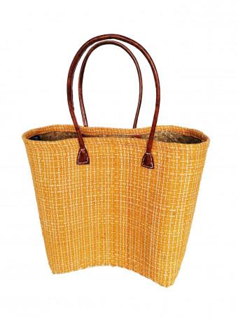 Плажна плетена чанта LE COMPTOIR DE LA PLAGE IKOPA GM SAFRAN PANIER