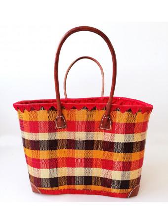 Плажна плетена чанта LE COMPTOIR DE LA PLAGE MADRAS GM LINEN Basket