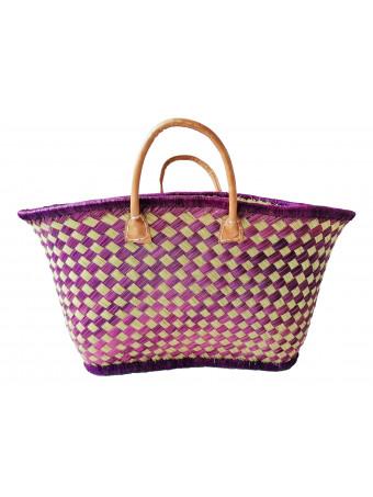 Плажна плетена чанта LE COMPTOIR DE LA PLAGE VOATOKANA GM PRUNE