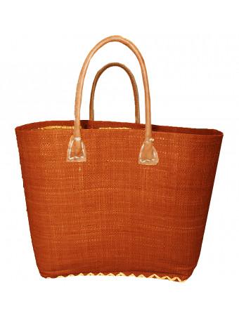 Плажна плетена чанта LE COMPTOIR DE LA PLAGE BELO CHOCOLAT PANIER