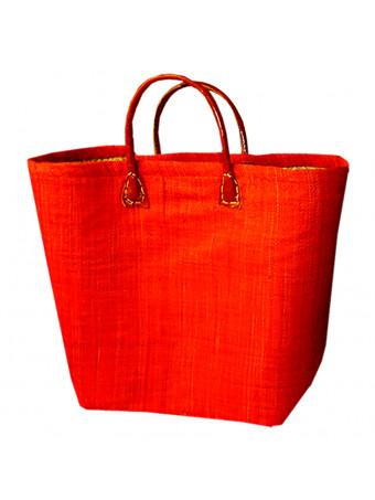 Плажна плетена чанта LE COMPTOIR DE LA PLAGE BELO ROUGE PANIER