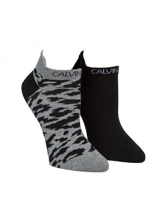 Дамски спортни чорапи Calvin Klein ECJ637-99-2P.LEOPARD