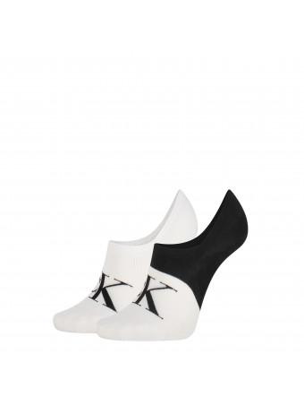 Дамски чорапи Calvin Klein 3037001999 2 чифта в пакет  BLK/WHITE