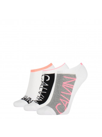 Дамски спортни чорапи Calvin Klein 3040002999 3 3 чифта в пакет  WHITECOMB