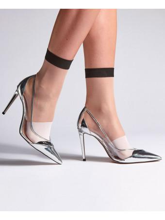 Дамски къси фешън чорапи Levante E796 15D NERO CALZINO