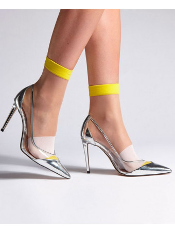 Дамски къси фешън чорапи Levante E796 15D GIALO CALZINO