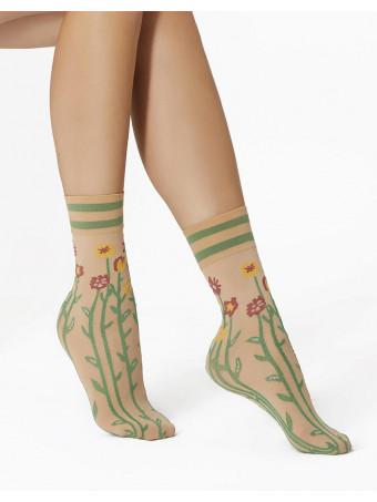Дамски къси фигурални чорапи Pierre Mantoux JAY CALZINO NUDO
