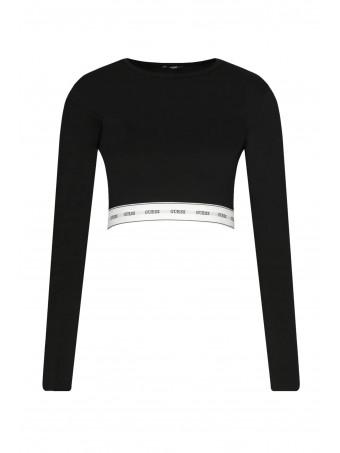 Дамска блуза с дълъг ръкав Guess O0BI00 KABQ0 JBLK