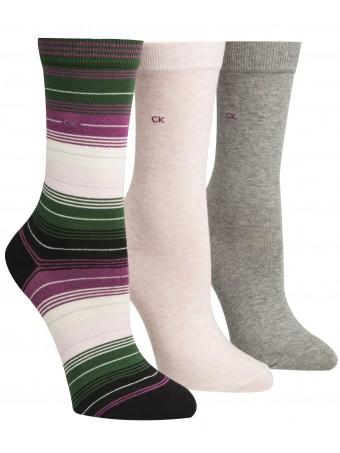 Дамски чорапи CALVIN KLEIN 3БР. В ОПАКОВКА
