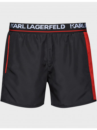 Мъжки бански-шорти Karl Lagerfeld KL21MBS04 BLACK  Short