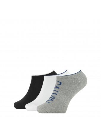 Мъжки чорапи Calvin Klein 3017003999 3 чифта в пакет GREY/WHITE/BLACK