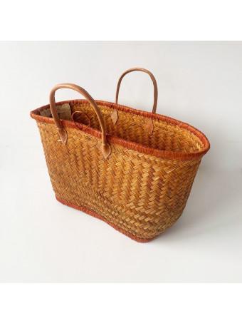 Плажна плетена чанта LE COMPTOIR DE LA PLAGE ARAVOLA M.GM LUXE CARAME