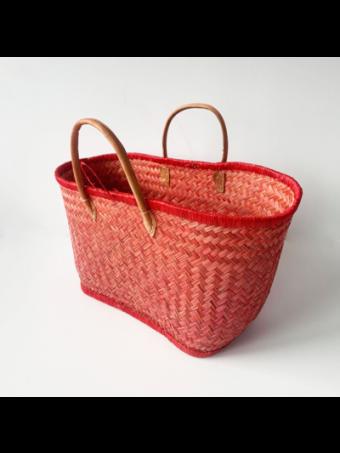 Плажна плетена чанта LE COMPTOIR DE LA PLAGE ARAVOLA M.GM LUXE ROUGE