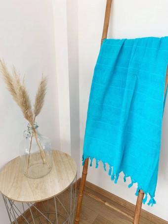 Плажна кърпа LE COMPTOIR DE LA PLAGE HAMMAM TURQUOISE 90x160cm TOWEL