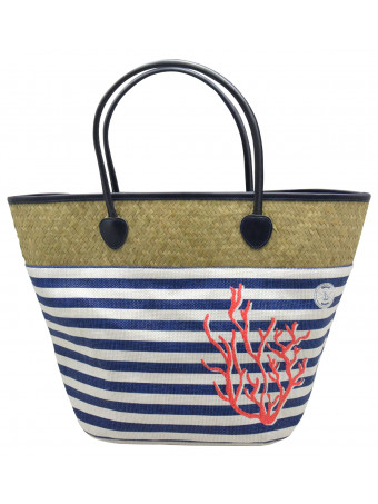 Плажна чанта Mora Mora CORAIL BAG NAVY COT&PAP