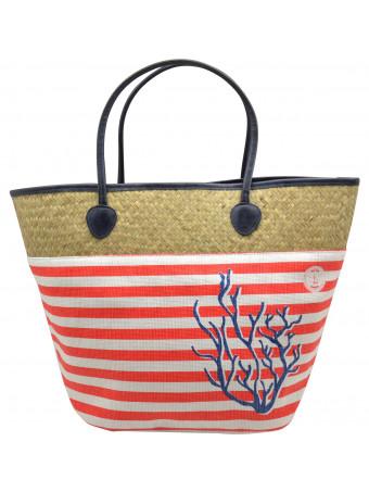 Плажна чанта Mora Mora CORAIL BAG CORAL COT&PAP