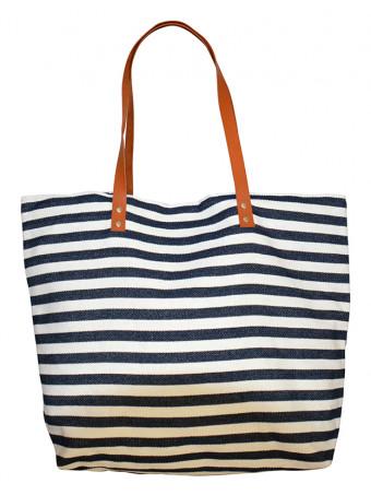 Плажна чанта Mora Mora MARINO BAG STRIPED WH/BL