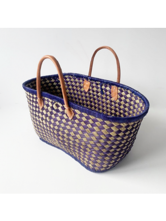 Плажна плетена чанта LE COMPTOIR DE LA PLAGE VOATOKANA GM BLUE