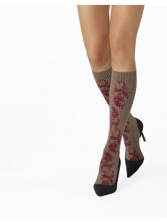 Дамски 3/4 чорапи Pierre Mantoux ANNETTE GAMB.BORDEAUX